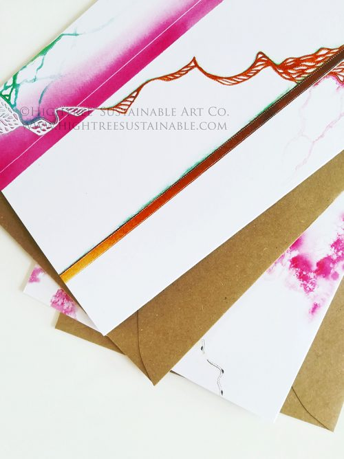 Growth & Movement Sustainable Postcards by Hightree® Sustainable Art Co.