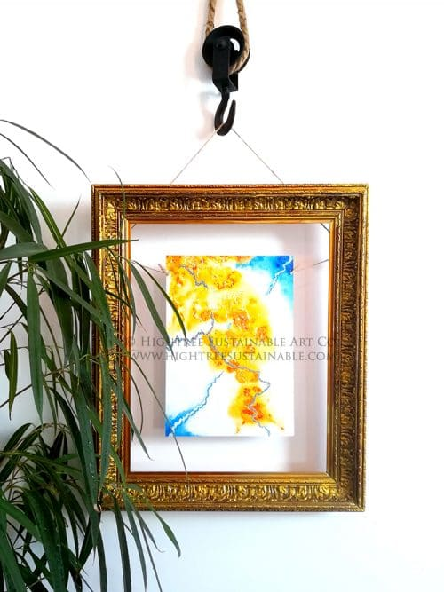 Cracks Sustainable Art Print framed by Hightree® Sustainable Art Co.