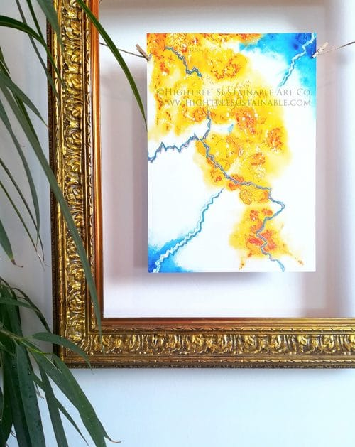 Sustainable Art Print Cracks Close-up by Hightree® Sustainable Art Co.