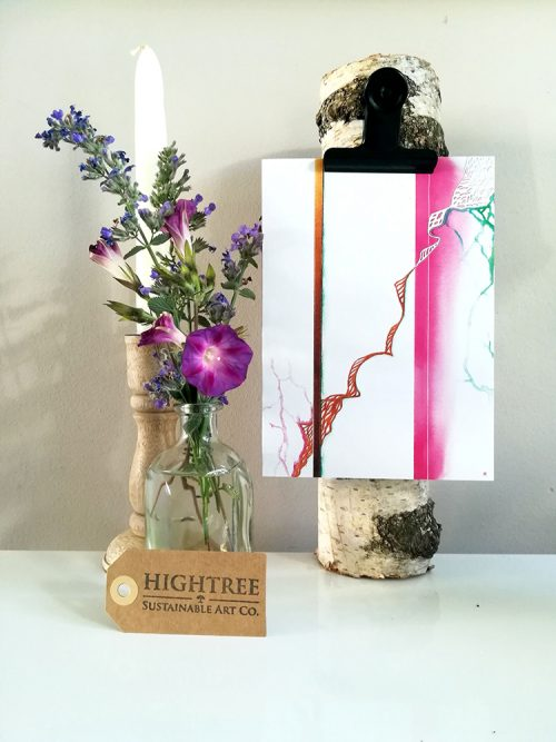 Growth Sustainable Postcard Framed - © Hightree® Sustainable Art Co.