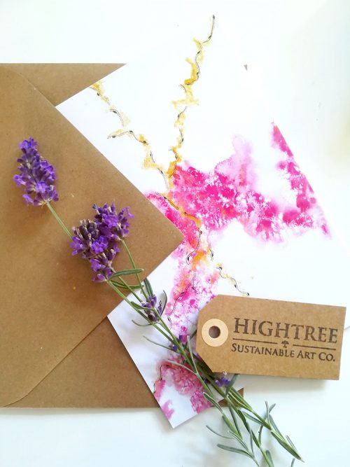 Movement Postcard with Envelope by Hightree® Sustainable Art Co.