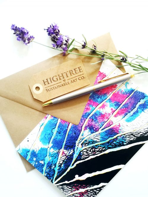 Periled Beauty Postcard with Envelope by Hightree® Sustainable Art Co.