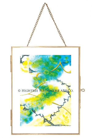 Gold Metal Wire Frame 16x21 cm - Fair Sustainable Frame - © Hightree Sustainable Art Co. 2019